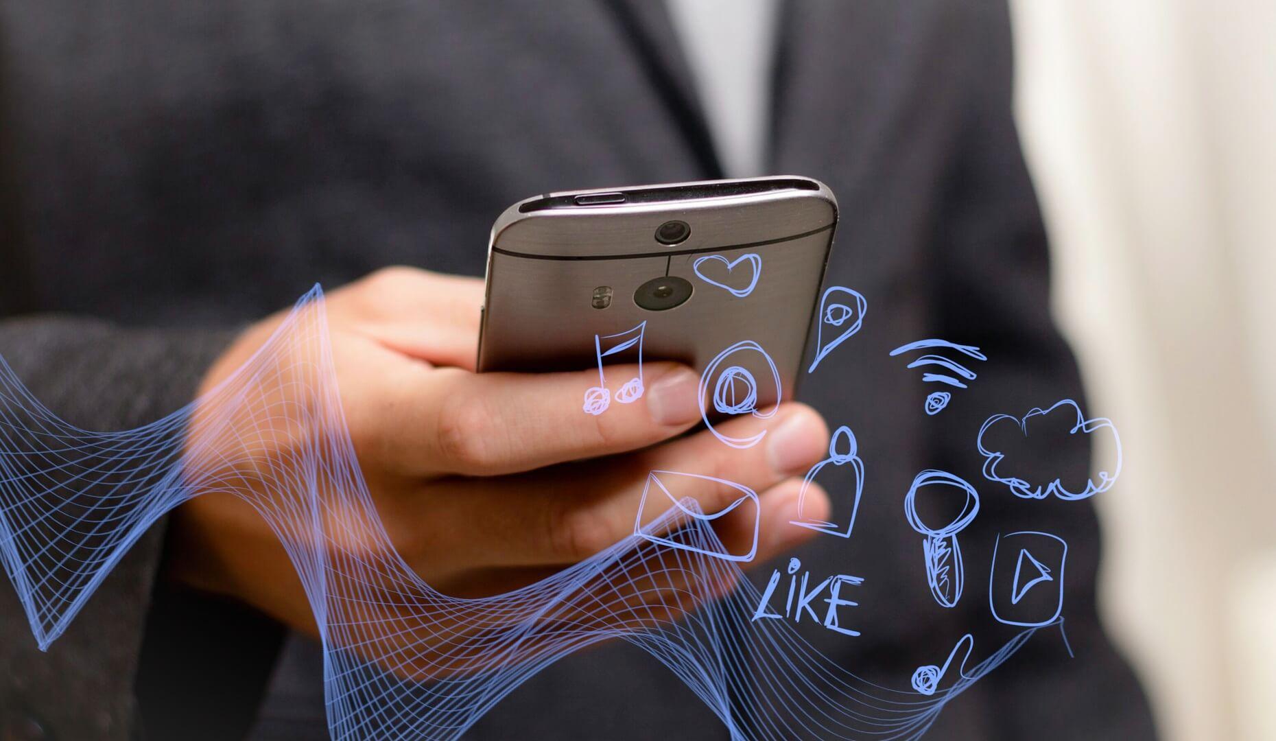 internet wifi verbonden connectiviteit smartphone social media 5g