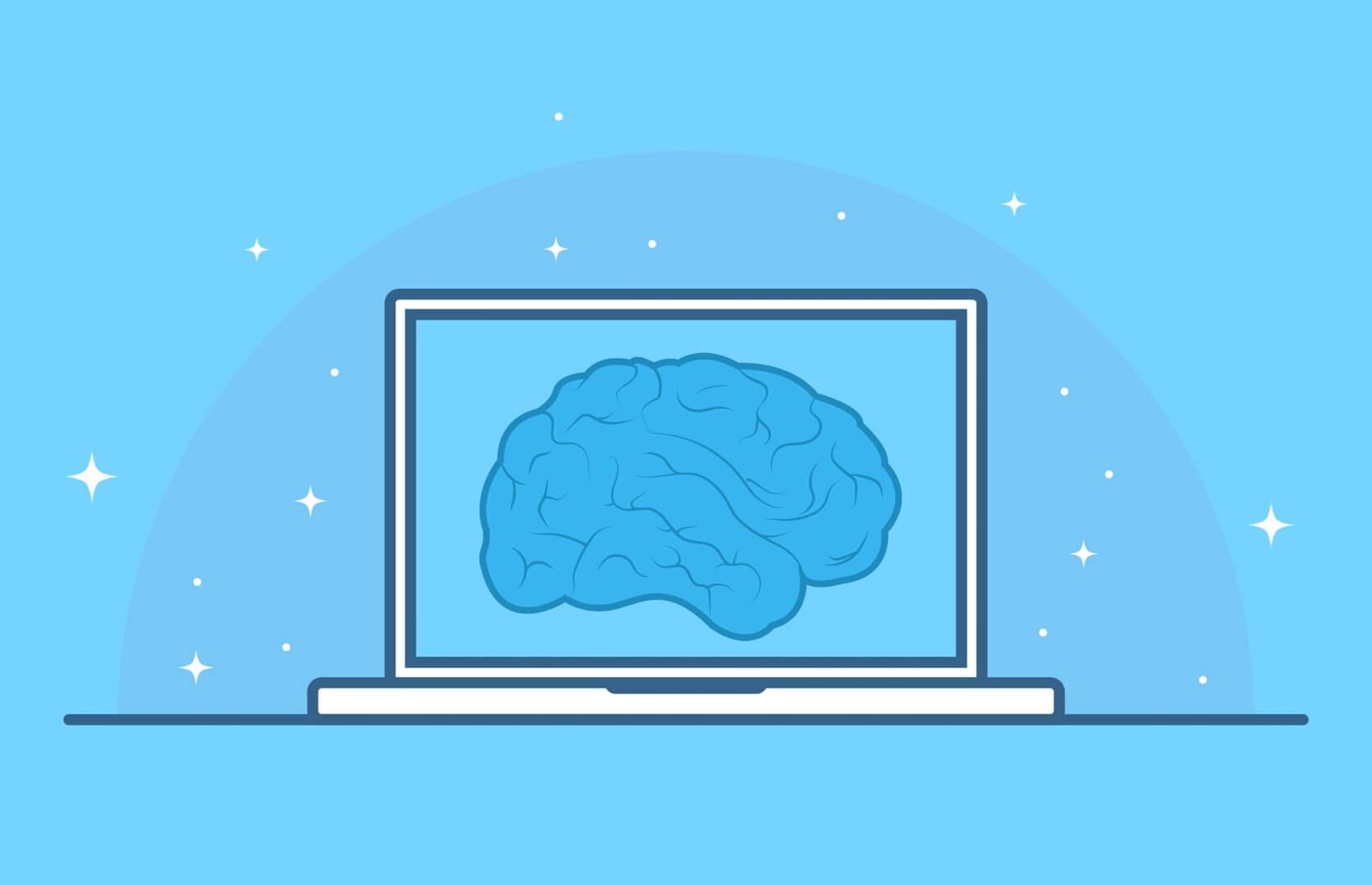 artificial intelligence ai hersenen laptop computer