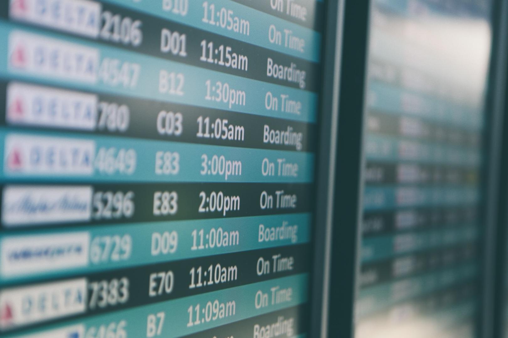 digital signage beelschermcommunicatie vliegveld digitaal bord